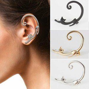 New Black Ear Cuff Earring